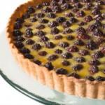 Пирог ежевичный с добавлением ягод малины, очень простой