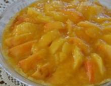 Пирог с персиками консервированными
