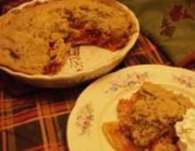 Рецепт пирог яблочный с клюквой