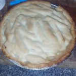 Яблочный пирог с молоком