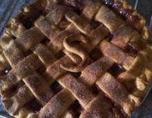 Яблочный пирог рецепт с добавлением клюквы