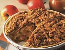 Яблочный пирог рецепт с карамелью, миндалём и мороженным