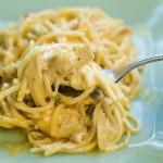 Куриные спагетти с сыром