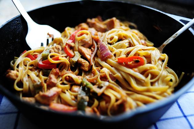 Макароны с мясом рецепты на сковороде на плите