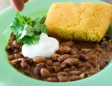 1 фасоль с кукурузным хлебом
